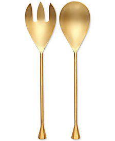 CLOSEOUT! Thirstystone Old Hollywood 2-Pc. Gold-Tone Salad Server Set