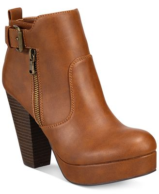 Material Girl Raelyn Block Heel Platform Booties, Only at Macy's