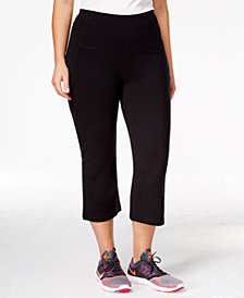 Calvin Klein Performance Plus Size Slimming High-Waisted Capri Leggings