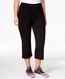Calvin Klein Performance Plus Size Slimming High-Waisted Capri Leggings