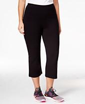 4f9f5c90ac Calvin Klein Performance Plus Size Slimming High-Waisted Capri Leggings