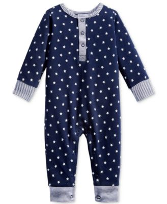 Image of First Impressions 1-Pc. Star-Print Coverall, Baby Boys (0-24 months), Created for Macy's