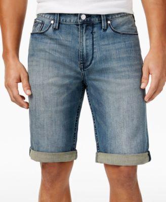 GUESS Men's Slim-Fit Raw Edge Denim Shorts - Shorts - Men - Macy's