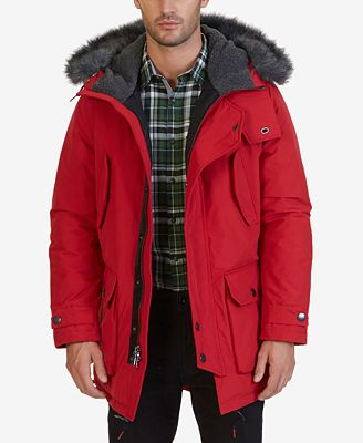 Nautica Men's Faux-Fur Quilted Parka - Coats & Jackets - Men - Macy's