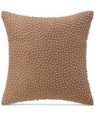 "Margot Persimmon 14"" Square Decorative Pillow"