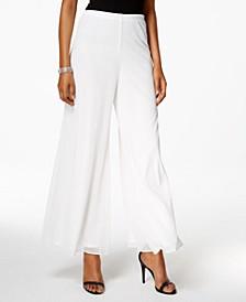 Mesh Wide-Leg Dress Pants