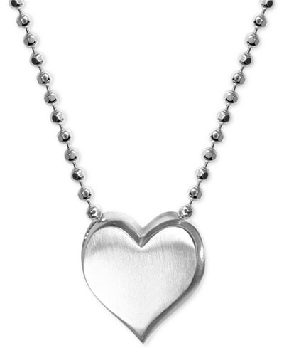 Alex Woo Heart Pendant Necklace in Sterling Silver