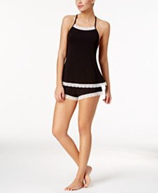 Cosabella Majestic Lace Trim Camisole and Boxer Shorts Sleep Separates, Online Only