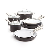 Deals on Calphalon Classic Ceramic 11-Pc. Cookware Set