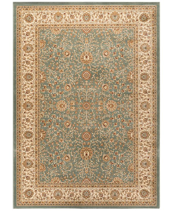 "KM Home CLOSEOUT! Oxford Kashan Seafoam 7'10"" x 10'3"" Area Rug"