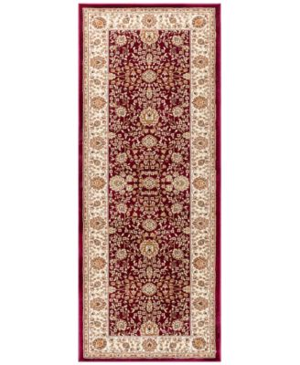 "CLOSEOUT! Oxford Kashan Red 2'7"" x 7'3"" Runner Area Rug"