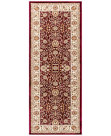 "CLOSEOUT! KM Home Oxford Kashan Red 2'7"" x 7'3"" Runner Area Rug"