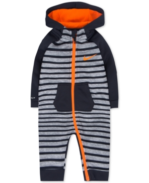 Nike 1Pc Hooded Striped Thermafit Coverall Baby Boys (024 months)