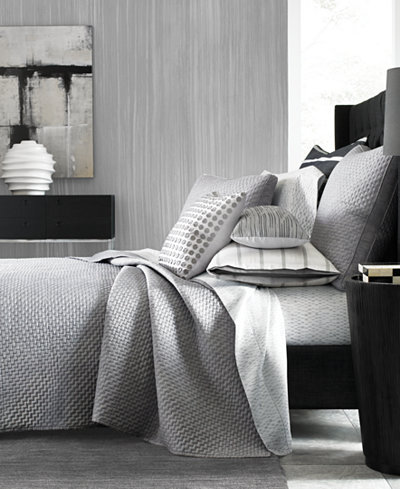 Hotel Collection Colonnade Dusk Quilted Full/Queen Coverlet ... : hotel collection quilted coverlet - Adamdwight.com
