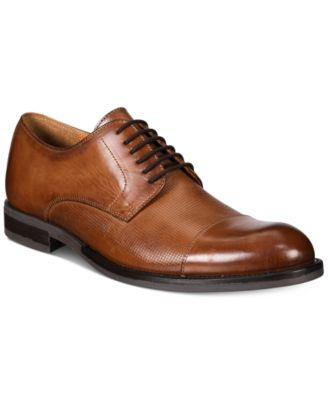 Image of Alfani Men's Eric Mixed Texture Cap-Toe Oxfords, Created for Macy's