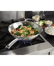 "Calphalon Classic Stainless Steel 12"" Stir Fry"