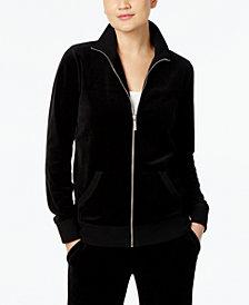 MICHAEL Michael Kors Velour Active Jacket