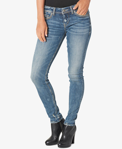Silver Jeans Co. Aiko Indigo Blue Wash Super Skinny Jeans - Sale ...