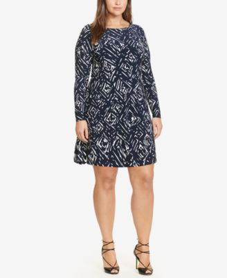 Lauren Ralph Lauren Plus Size Printed Jersey A-Line Dress