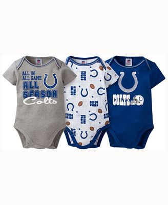 Gerber Childrenswear Babies' Indianapolis Colts 3 Piece Creeper Set