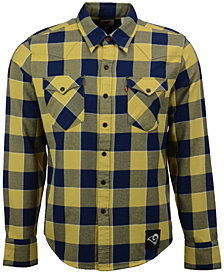 Levi's Men's Los Angeles Rams Plaid Barstow Western Long-Sleeve Shirt