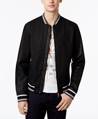 Armani Exchange Men's Varsity Bomber Jacket - Coats & Jackets ...