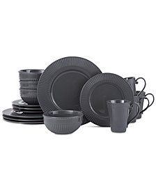 Mikasa Italian Countryside Graphite 16-Piece Dinnerware Set, Service for 4, Created for Macy's