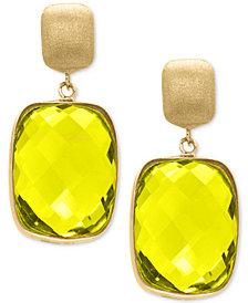 EFFY® Lemon Quartz Drop Earrings (20-1/2 ct. t.w.) in 14k Gold