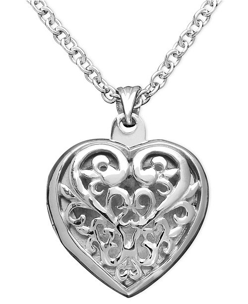 Giani Bernini Sterling Silver Pendant, Heart Locket