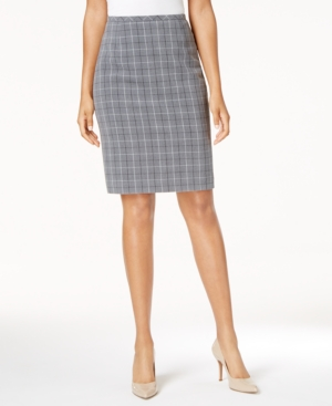 1960s Style Skirts Tommy Hilfiger Plaid Pencil Skirt $49.99 AT vintagedancer.com