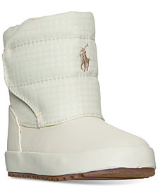 Polo Ralph Lauren Toddler Girls' Gabriel Quilted Boots from Finish Line