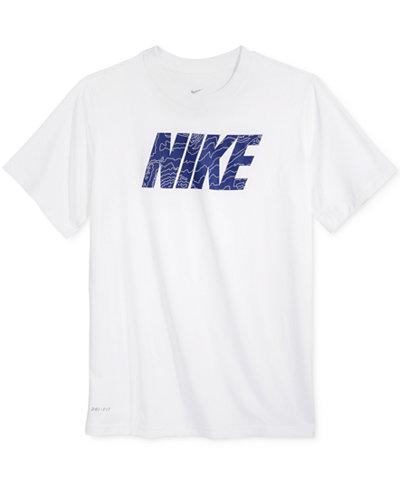 Nike Dry Fit Logo T Shirt Big Boys 8 20 Shirts Tees