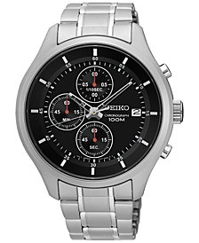 Seiko Men's Chronograph Special Value Stainless Steel Bracelet Watch 43mm SKS539