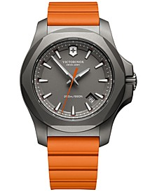 Men's Swiss I.N.O.X. Orange Rubber Strap Watch 43mm 241758
