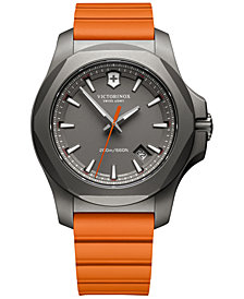 Victorinox Swiss Army Men's Swiss I.N.O.X. Orange Rubber Strap Watch 43mm 241758