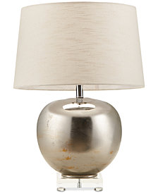 CLOSEOUT! Madison Park Signature Rondure Mirrored Pewter Table Lamp