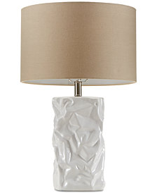 CLOSEOUT! Madison Park Crimp Ceramic Table Lamp