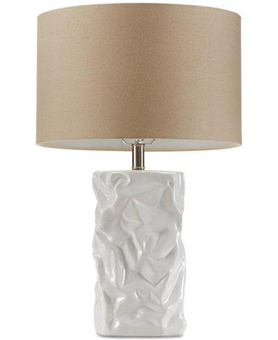 CLOSEOUT! Madison Park Crimp Ceramic Table Lamp