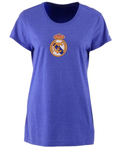 adidas Women's Real Madrid International Soccer Club Team Crest T-Shirt