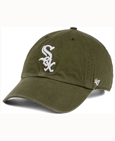 '47 Brand Chicago White Sox Olive White CLEAN UP Cap