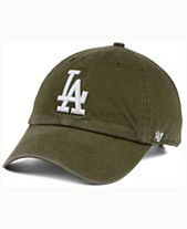 b3a45c10746  47 Brand Los Angeles Dodgers Olive White CLEAN UP Cap