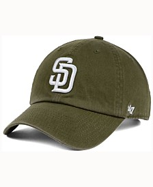 '47 Brand  San Diego Padres Olive White CLEAN UP Cap