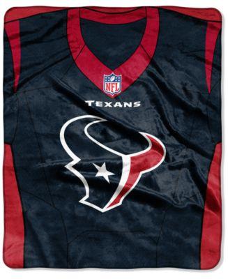 Houston Texans Jersey Plush Raschel Throw