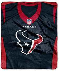 Northwest Company Houston Texans Jersey Plush Raschel Throw