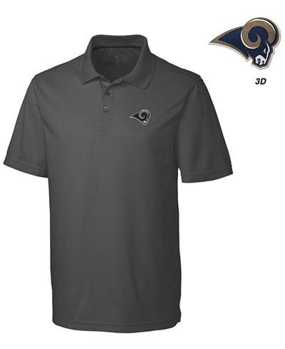 Cutter & Buck Men's Los Angeles Rams 3D Emblem Fairwood Polo Shirt