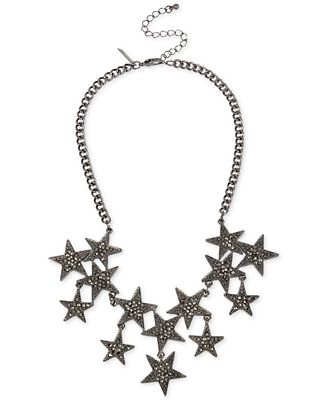 INC International Concepts Hematite-Tone Pavé Star Collar Necklace, Only at Macy's