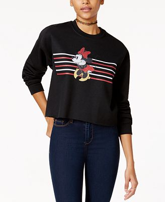 Disney Juniors' Minnie Mouse Cropped Graphic Sweatshirt