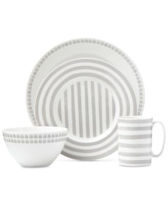 Charlotte Street North Grey Collection 4-Piece Place Setting