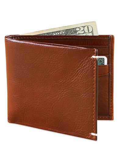 Tasso Elba Invecchiato Italian Leather Slim Billfold Wallet