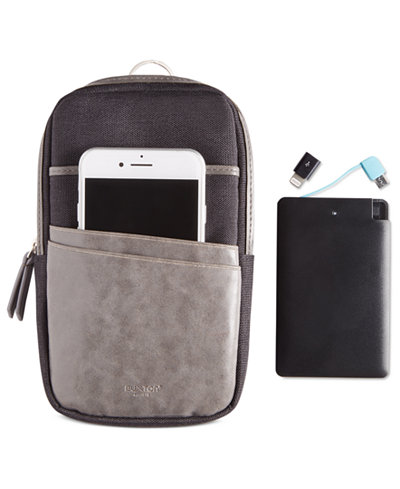 Buxton Men's RFID Phone Pouch with Power Bank